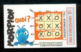 Grattage FDJ - FRANCAISE DES JEUX - MORPION 35402 - NEUILLY - Trait Orange - QUOI ? - Billets De Loterie