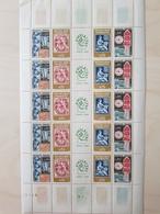 Bloc Feuille Numéroté 5*5 Expo Philatec 1964 YT 1414-1417 - Blocs & Feuillets