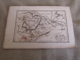 Carte Plan La Béotie Pour Le Voyage Du Jeune Anacharsis  Par J.D.Barbié Du Bocage 1787 - Geographical Maps