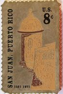 FF 384....JOLI PIN'S EN FORME DE TIMBRE   //.......   ....SAN JUAN....PUERTO   RICO - Pin's
