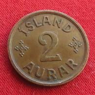 Iceland  2 Aurar 1942 KM# 6.2  Islandia Islande Island Ijsland - Islande