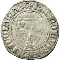 Monnaie, France, Charles VI, Blanc Guénar, Atelier Incertain, Variété, TB+ - 1380-1422 Charles VI Le Fol