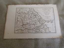 Carte Plan La Thessalie Pour Le Voyage Du Jeune Anacharsis  Par J.D.Barbié Du Bocage 1788 - Cartes Géographiques