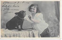 French Bulldog, Bulldog Français,with Girl, Avec Fille, Mit Mädchen - Chiens