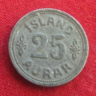 Iceland  25 Aurar 1942 KM# 2a  Islandia Islande Island Ijsland - Islande