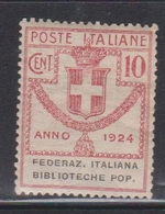 ITALY Scott # ?? MH - Library Association Stamp - Italy