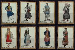 Griechenland Grece 1972 - Freimarken: Nationaltrachten - MiNr 1095-1102** - Kostüme