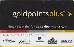 Gold Points Plus - Carlson Family Hotel Room Key Card - Hotel Keycards