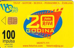 MONTENEGRO - Photo Riva 20 Years, Jugodata, 08/02, Used - Montenegro