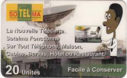 MALI - Earth Station, Sotelma Prepaid Card 20 Units(CN Under The Line), Used - Mali
