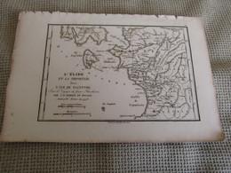Carte L`Élide Et La Triphylie Avec L`Ile De Zaçynthe Par J.D.Barbié Du Bocage 1786 - Carte Geographique