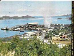 TAHITI  - ESCALE A NOUMEA   VUE DES INSTALLATIONS De La SOCIETE  -  PUBLICITE  LABORATOIRE   BRUNEAU .  , - Advertising