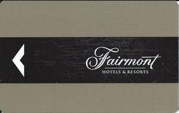 Fairmont Hotel Room Key Card - Hotel Keycards