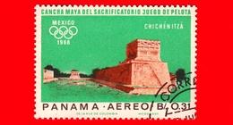 PANAMA - Nuovo - 1967 - Olimpiadi Estive 1968, Città Del Messico - Chichén Itzá - 0.31 - P. Aerea - Panama