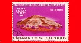 PANAMA - Nuovo - 1967 - Olimpiadi Estive 1968, Città Del Messico - Piramide Del Sole Di Teotihuacan - 0.005 - Panama