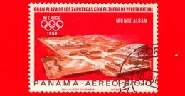 PANAMA - Nuovo - 1967 - Olimpiadi Estive 1968, Città Del Messico - Tempio Con Monte Alban - 0.10 - P. Aerea - Panama