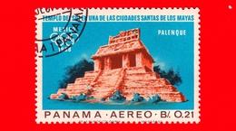 PANAMA - Nuovo - 1967 - Olimpiadi Estive 1968, Città Del Messico - Tempio Del Sole Di Palenque - 0.21 - P. Aerea - Panama