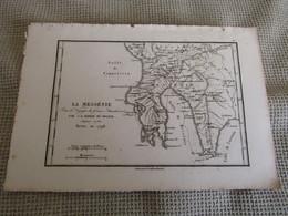 Carte La Messénie Par J.D.Barbié Du Bocage 1786 - Carte Geographique