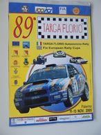 MANIFESTO Plakat LOCANDINA 89 TARGA FLORIO CAMPIONATO ITALIANO RALLY - Manifesti
