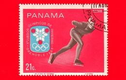PANAMA - Nuovo - 1968 - Giochi Olimpici Invernali, Grenoble - Pattinaggio Di Velocità - Skating - 21 - P. Aerea - Panama