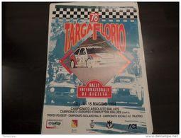 MANIFESTO Plakat 78 TARGA FLORIO RALLY 70X100 FORD ESCORT ALFA ROMEO LANCIA - Manifesti