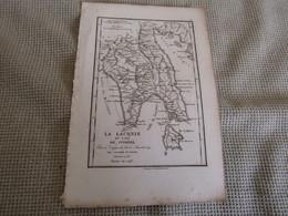 Carte La Laconie Et L`Ile De Cythére Par J.D.Barbié Du Bocage 1786 - Carte Geographique