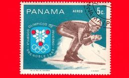 PANAMA - Nuovo - 1968 - Giochi Olimpici Invernali, Grenoble - Slalom - Skier - 5 - P. Aerea - Panama
