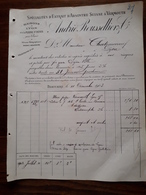 Ancienne Facture. Extrait D'Absinthe Suisse Et Vermouth. André Rousselier. Lyon Et Plaine St Denis. 1903 - France