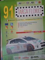 ORIGINAL POSTER PLAKAT 91 TARGA FLORIO RALLY CIR 25x50 FIAT ABARTH BASSO 1 - Manifesti