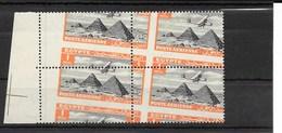 Avion Survolant Les Pyramides De Guizeh, B4,  01m Rouge Orangé Et Noir , Perforation Oblique - Luchtpost