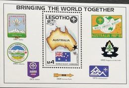 Lesotho  16th. World Scout Jamboree, Australia ,1987 S/S - Lesotho (1966-...)