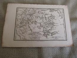 Carte L`Argolide,L`Épidaurie,La Trézénie,L`Hermionide,L`Ile D`Égine Et La Cynurie Par J.D.Barbié Du Bacage 1785 - Carte Geographique