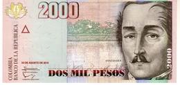 Colombia P.457   2000 Pesos 2013  Unc - Colombie