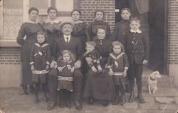 Fotokaart Carte Photo Familieportret Door Fotograaf Cyrille Torfs Heyst-op-den-Berg Heist-op-den-Berg (matroos Hond) - Heist-op-den-Berg