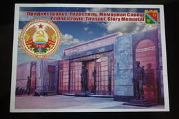 Moldova / Transnistria (PRIDNESTROVIE). Tiraspol. Glory Memorial - State Emblem -  Modern Postcard - Moldavie