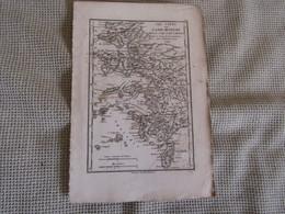 Carte Les Côtes De L`Asie Mineure Depuis Cume Jusqu`á Rhôdes Par J.D.Barbié Du Bocage 1798 - Carte Geographique