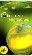 CARTE+-PREPAYEE-ONE LINE-GB-120U-1/8/99-GLOBE-Plastic Epais-TBE - France