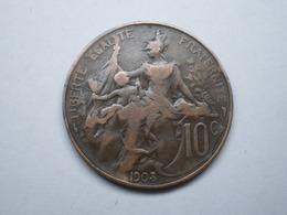 10 CENTIMES DUPUIS BRONZE 1903    Lotplrouge1/21         GADOURY 277 - France