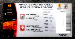 Football Tickets -  F.C.  RUBIN Kazan V. F.C. TWENTE , 2011 , EURO - CUP. - Match Tickets