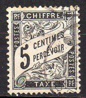 Col11    France  Taxe N° 14 Oblitéré  Cote : 35 Euros - 1859-1955 Oblitérés