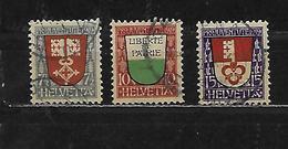 SUISSE 173 à 175 Oblitérés Rond - Suiza