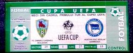 Football Tickets -  F.C.  ZIMBRU V. HERTHA B.S.C. , 2000 , EURO - CUP. - Tickets D'entrée