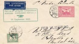 Nederlands Indië - 1930 - Medan - Britsch Indië, Trajectpost Van De Eerste Terugvlucht Van De 14-daagse Dienst Naar NL - Indes Néerlandaises