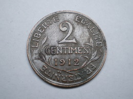 2 CENTIMES DUPUIS BRONZE 1912    Lotplrouge1/27        GADOURY 102 - France