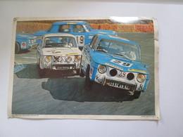 Photo  Collection ELF  21X30 Cm    COUPE  RENAULT 8 GORDINI - Automobiles