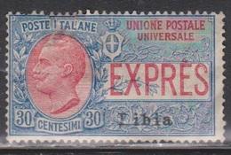 LIBYA Scott # E2 MH - Italy Stamp Overprinted - Libya