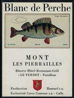 Rare // Etiquette De Vin // Poissons // Portalban, Blanc De Perche - Pesci