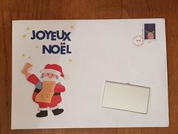 Grande Enveloppe Prêt à Poster Père Noël 2018 Pour Les écoles Ouverte Adresse Masquée Sur La Photo N°2 - Postal Stamped Stationery