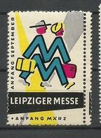 GERMANY Reklamemarke Leipziger Messe Advertising Poster Stamp MNH - Erinnofilie