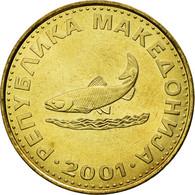 Monnaie, Macédoine, 2 Denari, 2001, SUP, Laiton, KM:3 - Macédoine